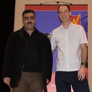 Ghassan Jamal with Gordon Brown (Winton Capital)