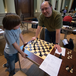 Father (John Gemmell) and son solving
