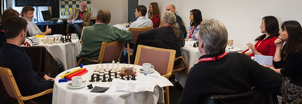 A lively group of teachers wanting to teach primary school chess.