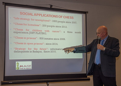 Leontxo Garcia, Chess author and populariser, Spain. Extremadura, the cradle of social chess.