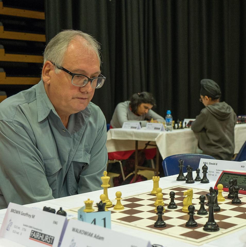Geoffrey M Brown, joint winner Scottish u1850 Championship