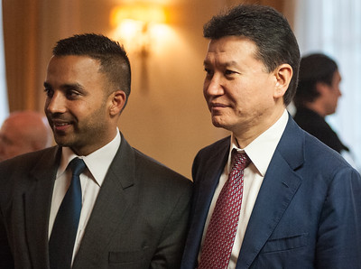 A guest plus Kirsan Ilyumzhinov (FIDE)