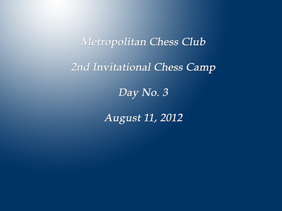 2012 Metro CC Camps, GM Anand, and 2nd International
