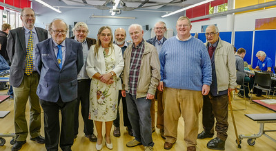 Current and Past Presidents: (front row) David Sedgwick, Julie Denning, David Howes, Roy Brown (back row) Tim Thurstan, Chris majer, Mike Gunn, David Smith, Martin Cath (Life Vice-President)