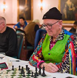 Ivor Annetts, joint winner of loudest shirt competition