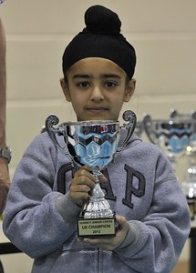 Arjan Singh Tucker, Surrey Under-8 Champion, 2012