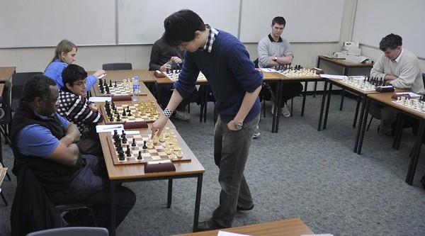 David makes a move versus Shawn Tavares.