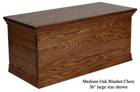 "Blanket Chest 36"" - Medium Oak"