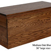 "Blanket Chest 36"" - Medium Oak"