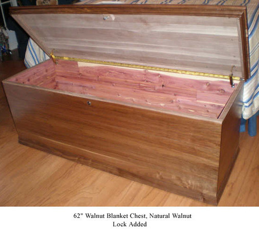 "Blanket Chest 62"" - Natural Walnut"