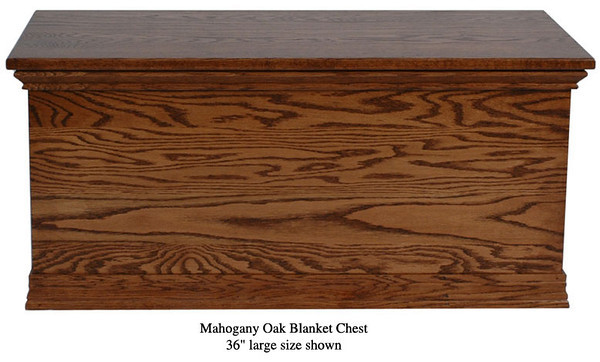 "Blanket Chest 36"" - Mahogany Oak"
