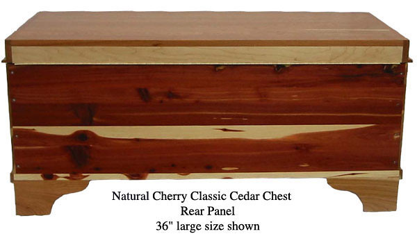 "Classic Cedar Chest 36"" - Natural Cherry"