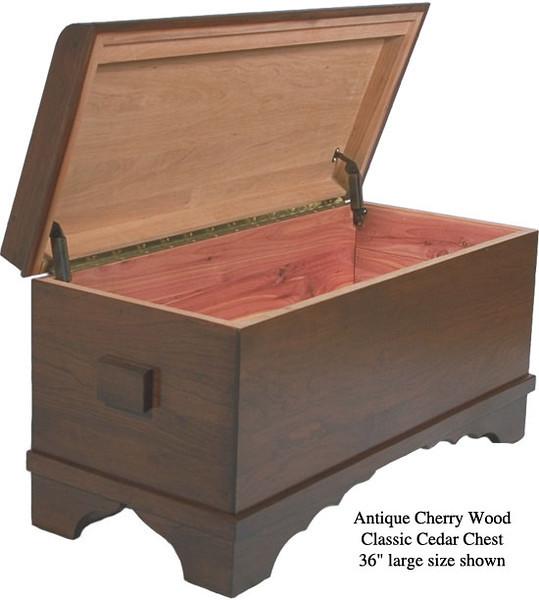 "Classic Cedar Chest 36"" - Antique Cherry"