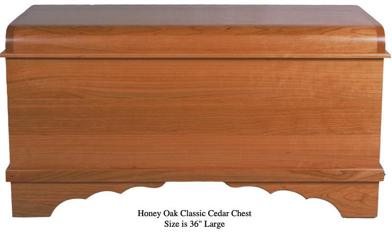 "Classic Cedar Chest 36"" - Honey Oak"
