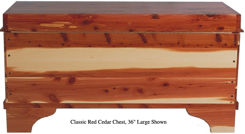 "Classic Cedar Chest 36"" - Red Cedar (Rear Panel)"