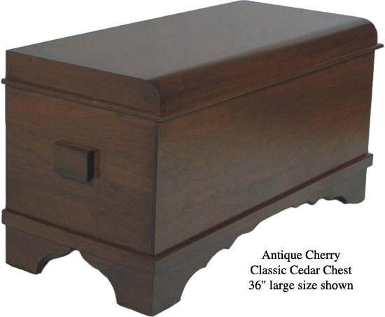 "Classic Cedar Chest 36"" - Antique Cherry"
