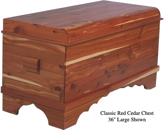 "Classic Cedar Chest 36"" - Red Cedar"