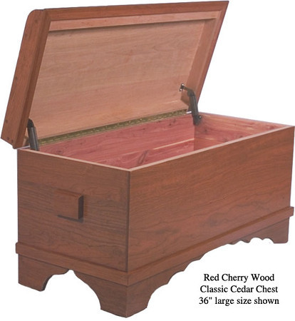 "Classic Cedar Chest 36"" - Red Cherry"