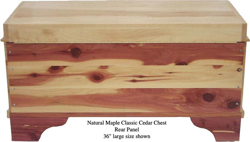 "Classic Cedar Chest 36"" - Natural Maple"