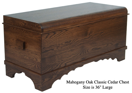 "Classic Cedar Chest 36"" - Mahogany Oak"