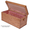 Medium Oak Colonial Toy Chest with Lid OPen