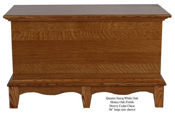 "Dowry Chest 36"" - Quarter Sawn White Oak with Honey Oak Finish"
