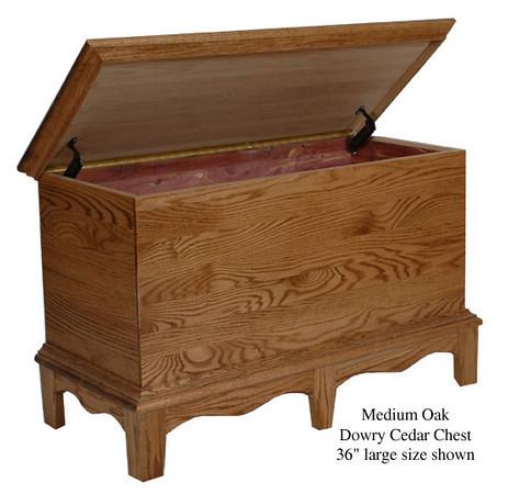 "Dowry Chest 36"" - Medium Oak"