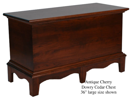 "Dowry Chest 36"" - Antique Cherry"