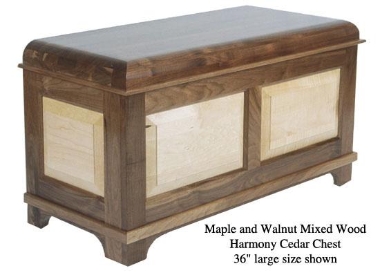 """Harmony Chest 36"""" - Maple & Walnut Mixed"""