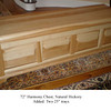 "Harmony Chest 72"" - Natural Hickory"