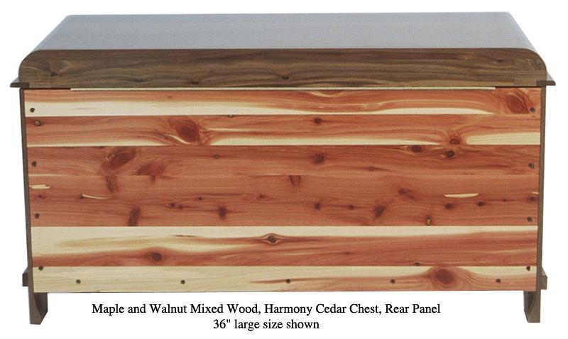 """Harmony Chest 36"""" - Maple & Walnut Mixed (Rear Panel)"""