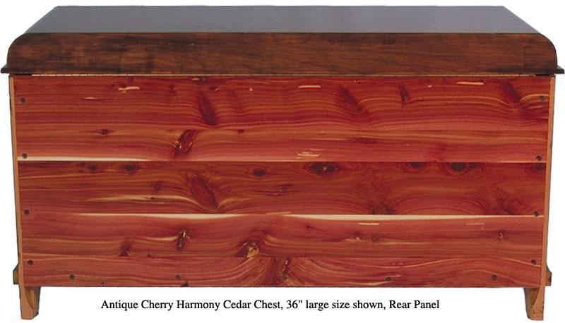 """Harmony Chest 36"""" - Antique Cherry (Rear Panel)"""
