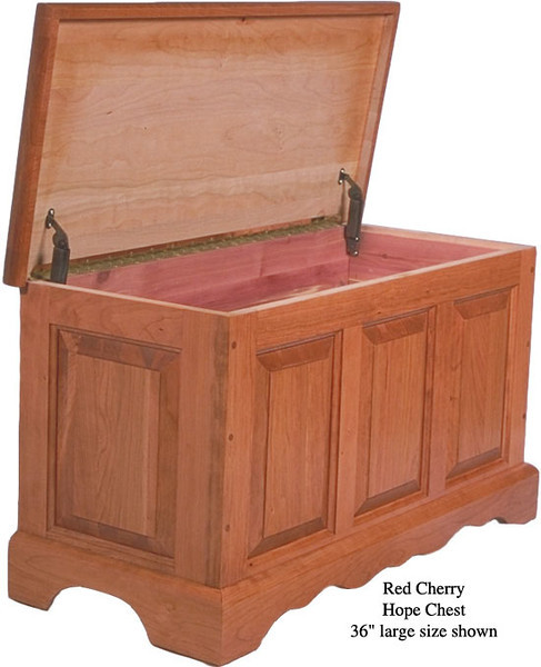 """Hope Chest 36"""" - Red Cherry"""