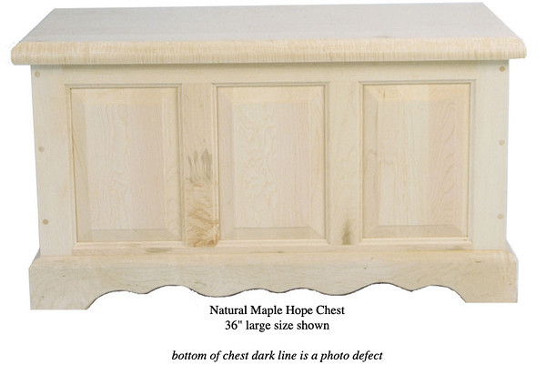 """Hope Chest 36"""" - Natural Maple"""