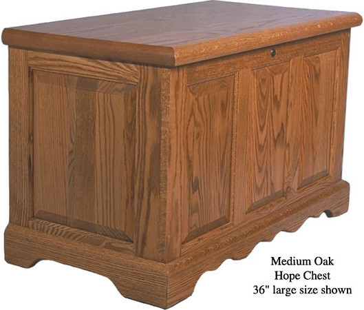 "Hope Chest 36"" - Medium Oak"