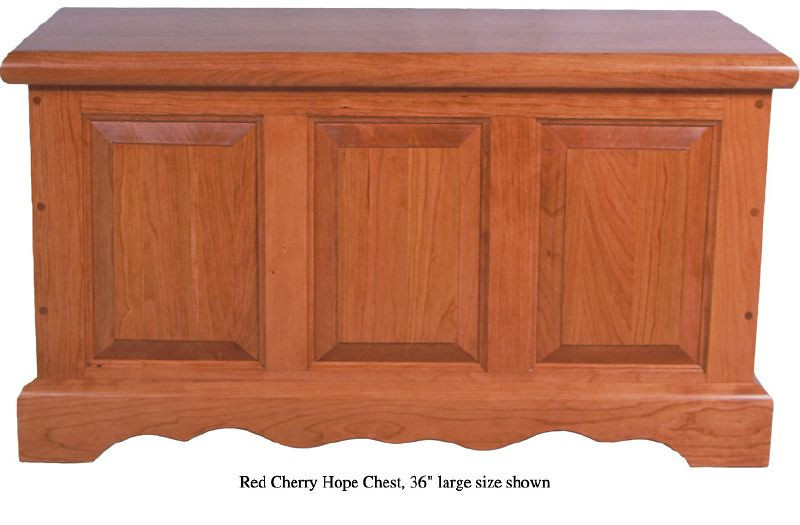 "Hope Chest 36"" - Red Cherry"