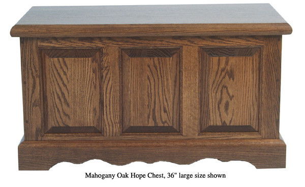 "Hope Chest 36"" - Mahogany Oak"