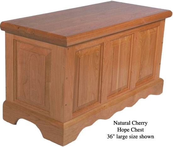 """Hope Chest 36"""" - Natural Cherry"""