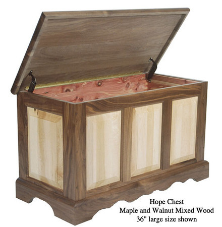 "Hope Chest 36"" - Maple & Walnut Mixed"