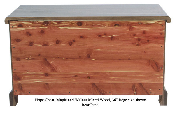 "Hope Chest 36"" - Maple & Walnut Mixed (Rear Panel)"