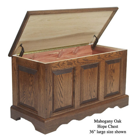 "Hope Chest 36"" - Mahogany Oak"