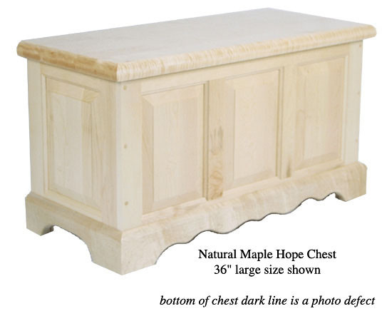 "Hope Chest 36"" - Natural Maple"