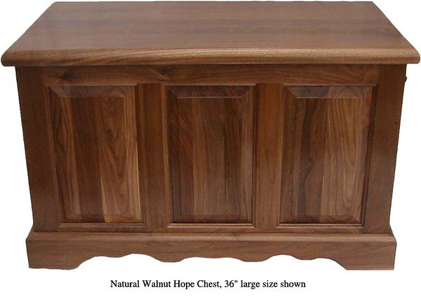 "Hope Chest 36"" - Natural Walnut"