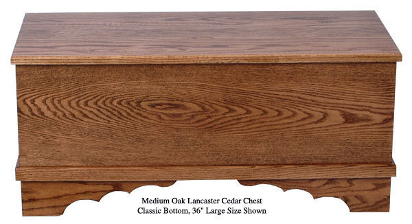 Medium Oak Lancaster Chest - Classic Bottom