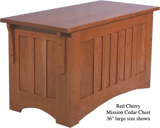 "Mission Chest 36"" - Red Cherry"