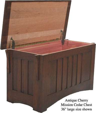 "Mission Chest 36"" - Antique Cherry"