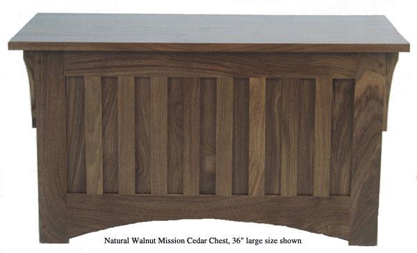"Mission Chest 36"" - Natural Walnut"