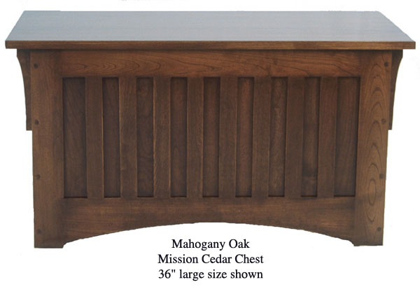 "Mission Chest 36"" - Mahogany Oak"