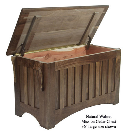 "Mission Chest 36"" - Natural Walnut"