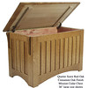 "Mission Chest 36"" - Quarter Sawn Red Oak w/ Cinnamon Finish"